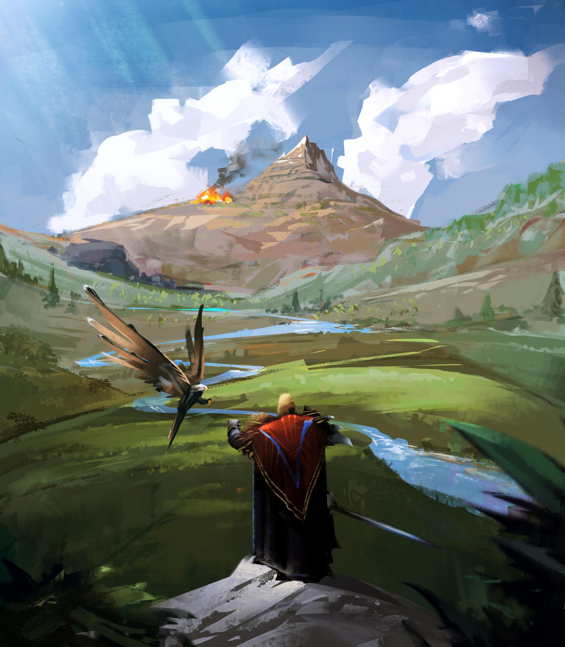 Environment Mountain Concept Art